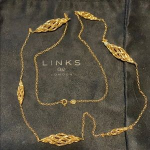 Links of London Jewelry - Links of London Woven Station Necklace 18k YG